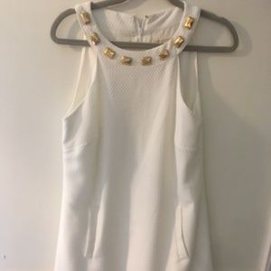 White Michael Kors shift halter dress w/POCKETS